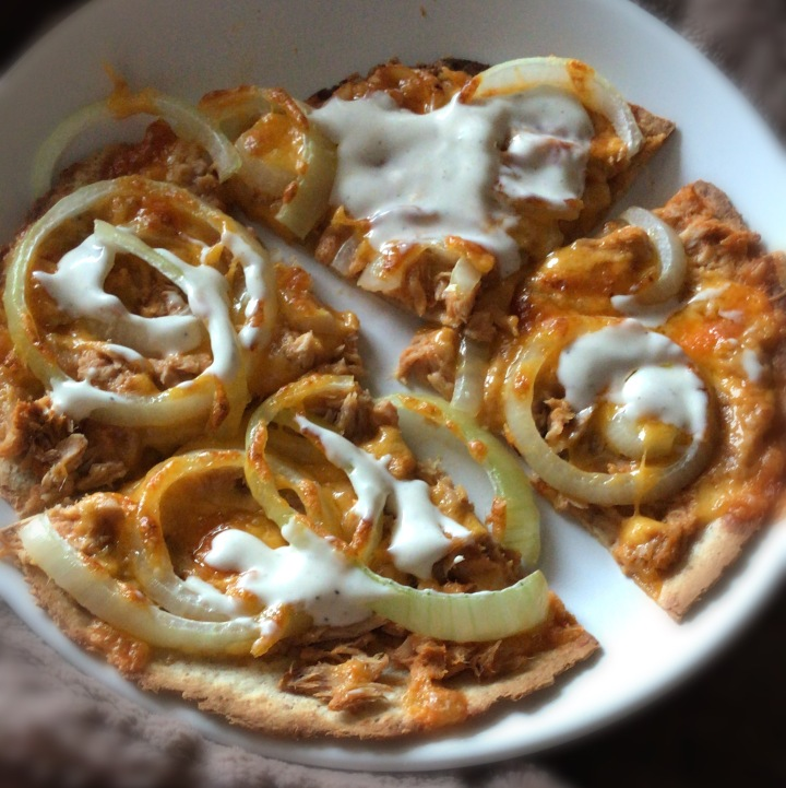 Low Carb Tuna Melt Pizza